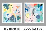 collection of creative... | Shutterstock .eps vector #1030418578