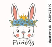 princess. cute bunny girl with... | Shutterstock .eps vector #1030419640