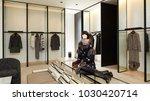woman mannequin in luxury... | Shutterstock . vector #1030420714