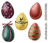 Watercolor Easter Eggs Set....