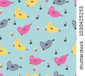 seamless pattern with colorful... | Shutterstock .eps vector #1030425253