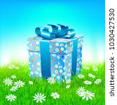 spring background with meadow... | Shutterstock .eps vector #1030427530