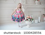 full length of little smiling... | Shutterstock . vector #1030428556