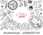 happy easter vector... | Shutterstock .eps vector #1030435714