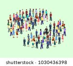 isometric flat 3d isolated... | Shutterstock .eps vector #1030436398