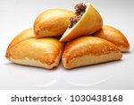 brazilian snack. meat esfiha | Shutterstock . vector #1030438168