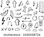 doodle hand drawn vector arrows | Shutterstock .eps vector #1030438726