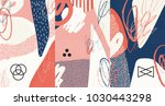 creative doodle art header with ... | Shutterstock .eps vector #1030443298
