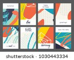 set of creative universal... | Shutterstock .eps vector #1030443334