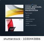 set of design brochure ... | Shutterstock .eps vector #1030443886