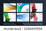 set of design brochure ... | Shutterstock .eps vector #1030443904