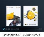 business set of design brochure ...   Shutterstock .eps vector #1030443976