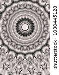 abstract monochrome mandala... | Shutterstock . vector #1030445128