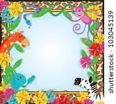 jungle zoo party invitation | Shutterstock .eps vector #103045139