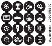 soccer icons set | Shutterstock .eps vector #1030458970