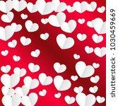 hearts confetti background. st. ... | Shutterstock .eps vector #1030459669