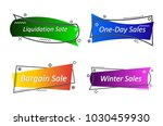 flat linear promotion ribbon... | Shutterstock .eps vector #1030459930