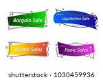 flat linear promotion ribbon... | Shutterstock .eps vector #1030459936