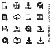 download icons. black flat... | Shutterstock .eps vector #1030464988