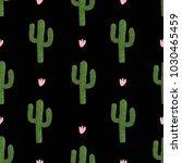 cactus design. seamless pattern....   Shutterstock .eps vector #1030465459