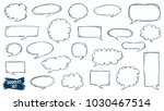speech bubble doodles set....   Shutterstock .eps vector #1030467514