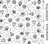flowers vector seamless pattern.... | Shutterstock .eps vector #1030467916