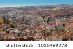 panoramic view of lisbon ... | Shutterstock . vector #1030469278