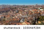 panoramic view of lisbon ... | Shutterstock . vector #1030469284