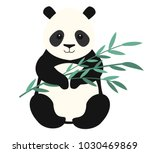 panda isolated on white... | Shutterstock .eps vector #1030469869