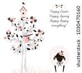 happy easter greetings ... | Shutterstock .eps vector #1030470160