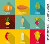 herbal product icons set. flat... | Shutterstock .eps vector #1030472506