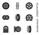cartwheel tire icons set.... | Shutterstock .eps vector #1030474714