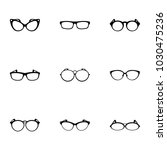spectacle icons set. simple set ... | Shutterstock .eps vector #1030475236