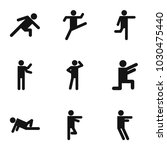 exercise icons set. simple set... | Shutterstock .eps vector #1030475440