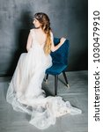 young beautiful bride with a...   Shutterstock . vector #1030479910