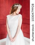 young beautiful bride with a...   Shutterstock . vector #1030479928