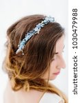 young beautiful bride with a...   Shutterstock . vector #1030479988