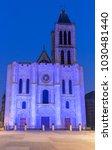 exterior facade of the basilica ... | Shutterstock . vector #1030481440