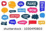 speech bubble doodles set.... | Shutterstock .eps vector #1030490803