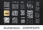 vector set of grungy hand drawn ...   Shutterstock .eps vector #1030492693