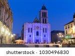 exterior facade of the basilica ... | Shutterstock . vector #1030496830