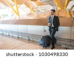 businessman waiting in the... | Shutterstock . vector #1030498330