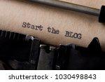 start the blog   text message... | Shutterstock . vector #1030498843