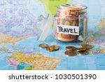 Travel Budget Concept. Money...