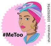 hashtag metoo vector... | Shutterstock .eps vector #1030502956