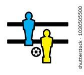 foosball icon  vector... | Shutterstock .eps vector #1030505500