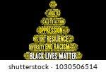 black lives matter word cloud... | Shutterstock .eps vector #1030506514