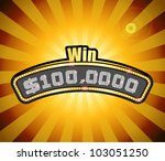 vector millionaire contest... | Shutterstock .eps vector #103051250