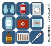 ambulance icons medicine health ... | Shutterstock .eps vector #1030512640