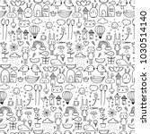 pattern with line hand drawn... | Shutterstock .eps vector #1030514140